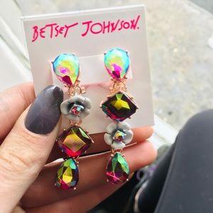 Betsey Johnson | Fruity Petals Crystal Earrings